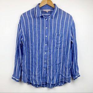 PHILOSOPHY Blue & White Striped Blouse M